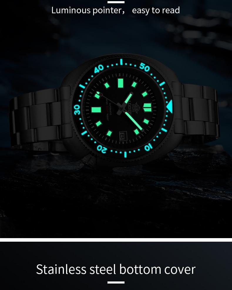 H3b0985783b344ce38e2a7d4df4575df7W 1970 Abalone 200m Diver Watch Sapphire crystal calendar NH35 Automatic Mechanical Steel diving Men's watch