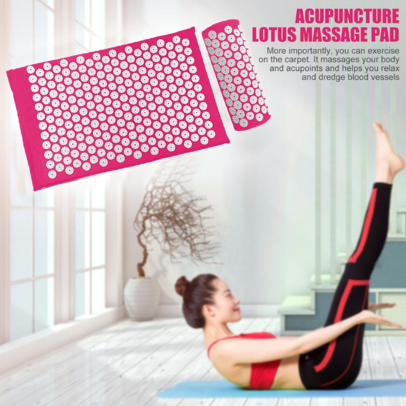 Acupressure Massage Mat with Pillow set to body Relaxation to Release Stress and Tension 4