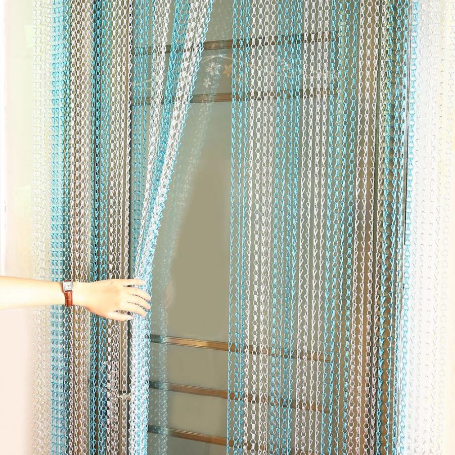 SQUID EU Made Metal Chain FLY Pest INSECT DOOR SCREEN CURTAIN Control BLUE