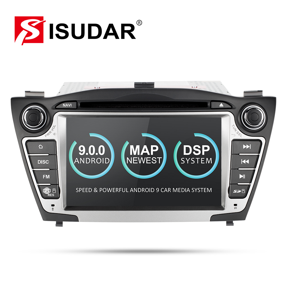 Isudar Car Multimedia Player <font><b>GPS</b></font> 2 Din Android 9 For <font><b>Hyundai</b></font>/IX35/TUCSON 2009-2015 Canbus Auto Radio USB DVR DVD Player DSP FM image