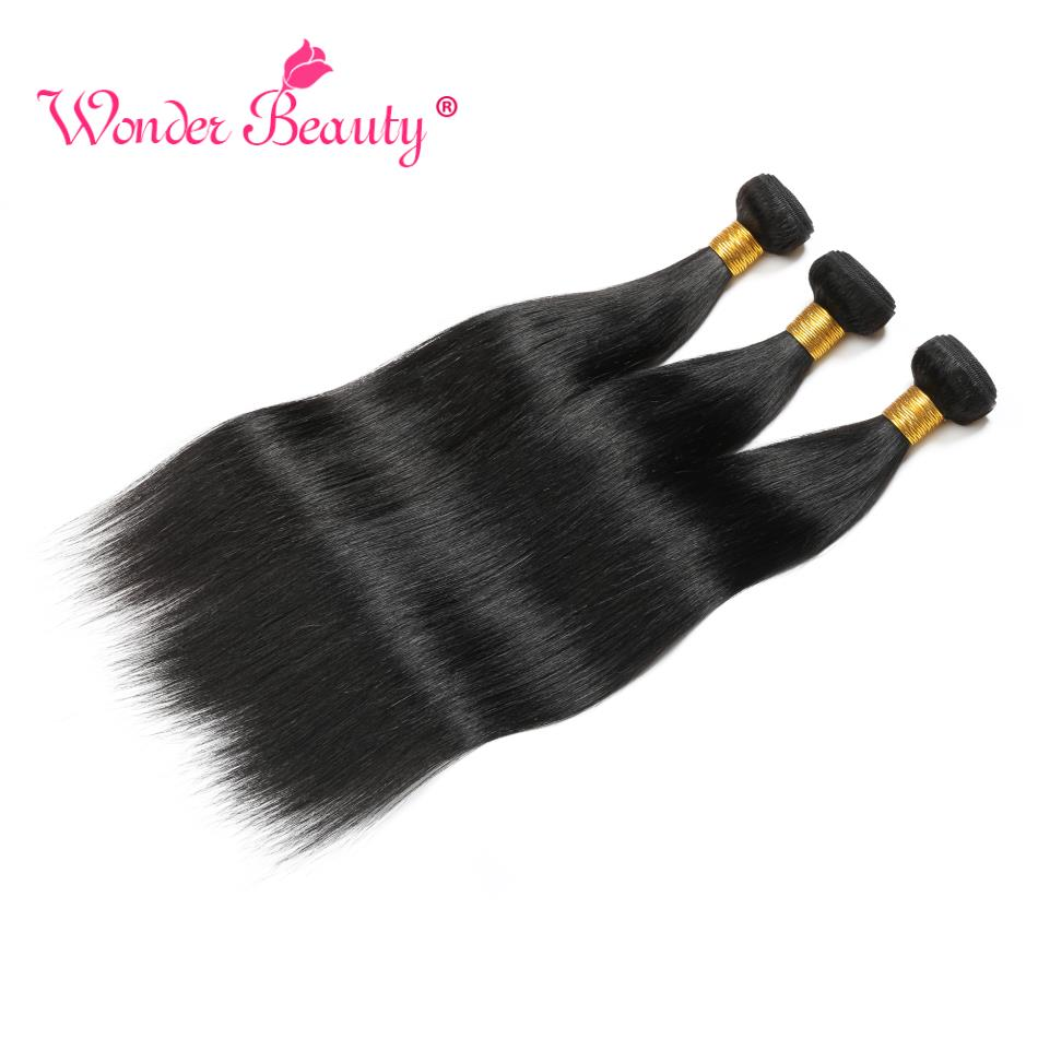 Image 4 - Straight Hair Malaysian Hair Bundles Wonder Beauty Hair Human Hair Bundles Remy Hair Extension Can Buy 3 Or 4Pcs Natural Black-in Hair Weaves from Hair Extensions & Wigs