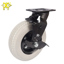 8-inch Pu Foam Wheel With Brake Caster Polyurethane Hotel Service Car Universal Factory Direct Selling hot 4 inch caster wheel manufacturer 100mm medium duty nylon caster brake