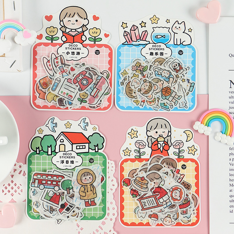 40 Pcs/lot Girl Life Ceremony Sense Journal Decorative Washi Stickers Scrapbooking Stick Label Diary Stationery Album Sticker