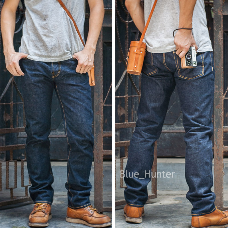 Red Tornado 511 Slim Fit Men's Jeans 16oz Selvage Denim Pants Blue ONEWASH