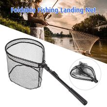 Aluminum Alloy Retractable Fishing Net Telescoping Landing Net Pole Folding Landing Net For Fly Fishing Accessories strong solid ring landing net of head nylon net fishing net fishing network turck net dipneting fishing tool outdoor pesca