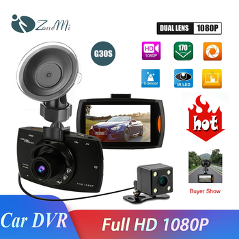 Dash cam 1080p Dual lensCar DVR Dash Camera Rear View Video Recorder 2.7 HD WDR Night Vision 170° Wide Angle image
