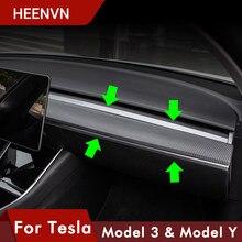 Heenv n 2021 nouvelle garniture de Console centrale de voiture pour Tesla modèle 3 fibre de carbone ABS pour Tesla modèle Y accessoires trois Protection modèle3