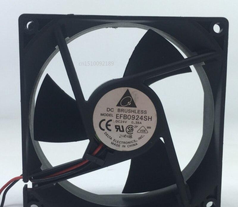 Free Shipping Electronics EFB0924SH DC 24V 0.38A 92x92x25mm 2-wire Server Cooler Fan