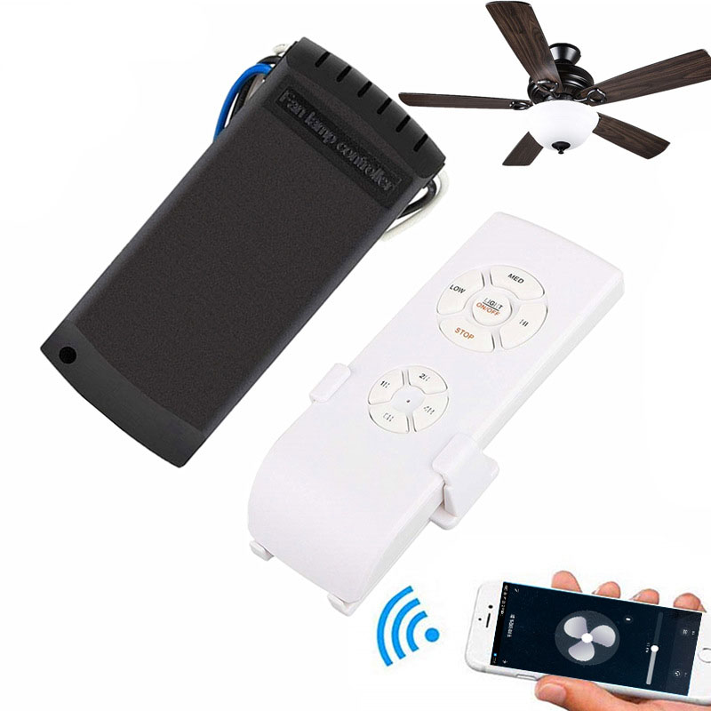 Fan Remote Control Kit Wireless Remote Control Universal 4-Stroke 3-Speed For Ceiling Fan With Controller New