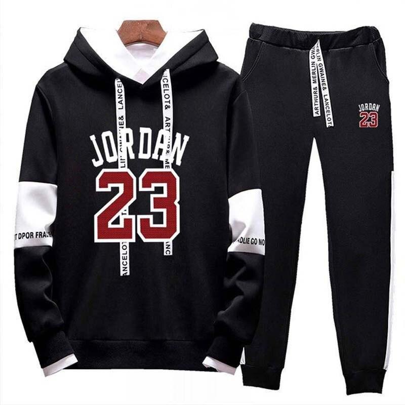 Tracksuit Men Two Piece Set Men Outfits Jordan 23 Sport Suit Hoodie Sweatshirt Sweatpants Jogging Sweatsuit Joggers Sportswear