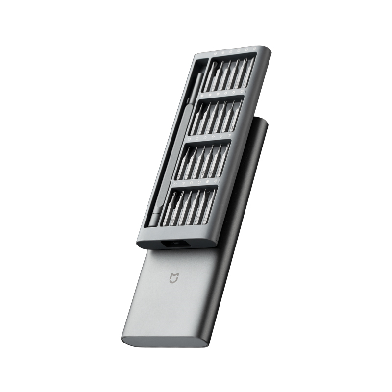 Image 2 - Original Xiaomi Mijia Wiha Daily Use Screwdrive Kit 24 Precision Magnetic Bits AL Box Screw Driver xiaomi smart home Set 2017set diyset screw driversset box -