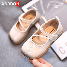 Size 21-30 Girls Breathable Hook Loop Casual Single Shoes Baby Wear-resistant Toddler Shoes Children Footwear with Anti-slippery