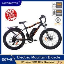 AOSTIRMOTOR Electric Mountain Bike Fat Tire Bicycle 750W E-Bike Beach Bike 48V 13Ah Lithium Battery US Stock