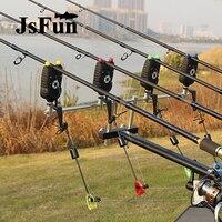 4+1 Wireless Fishing Bite Alarm and Receiver Fishing Swinger Set LED Illuminated Indicator Carp Night Fishing Tackle FO402