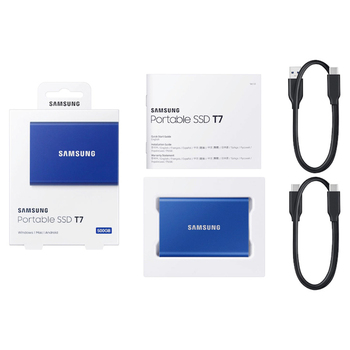 samsung T7 portable SSD NVME 500GB 1TB 2TB External Solid State Drives Type-C USB 3.2 Gen2 and backward compatible for laptop 6