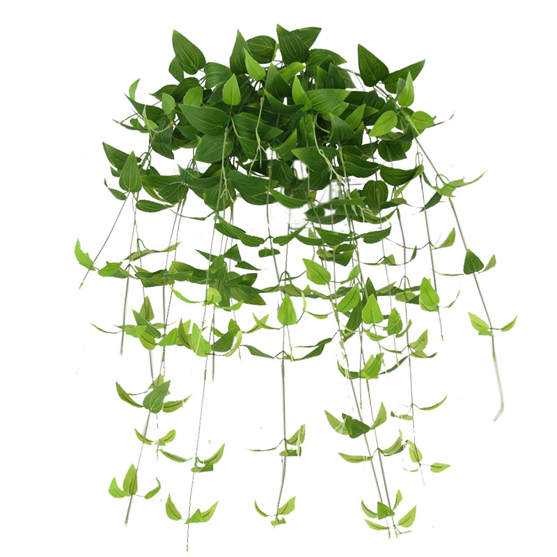 Artificial Flowers Cloth Clematis Fake Flower Garland Leaves Hanging Vine Leaf Foliage Plants For Indoor Outdoor Wedding Decorat