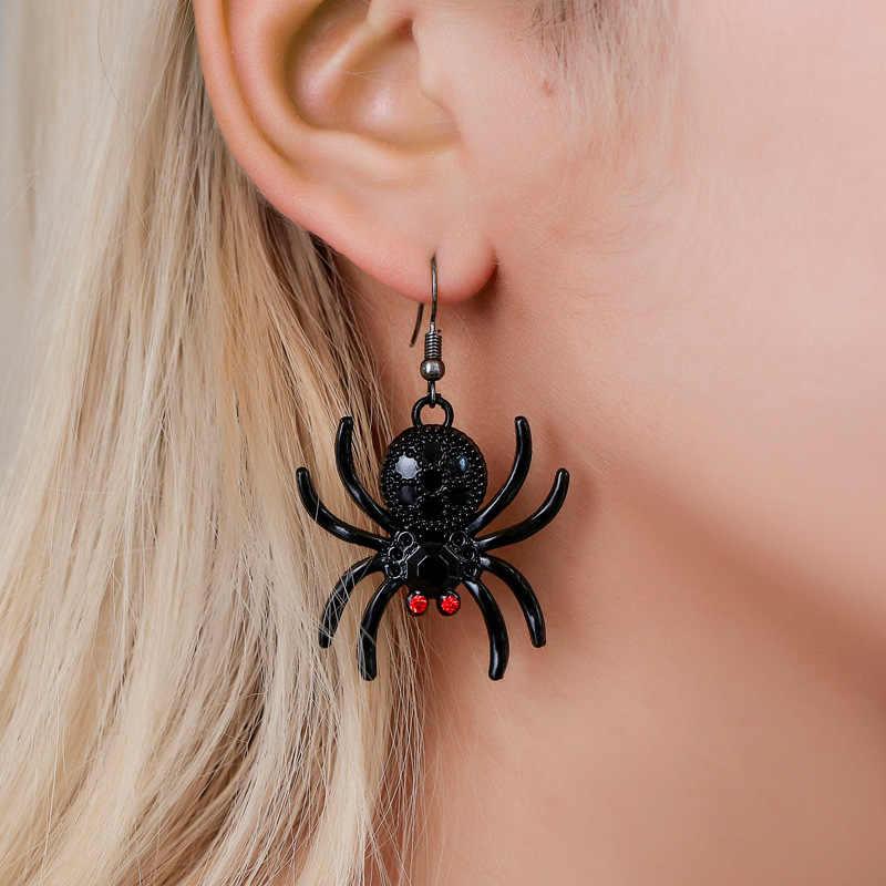 Halloween spider and moon epoxy earrings
