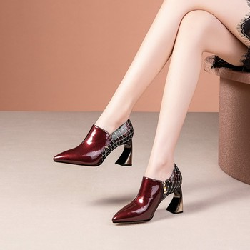 MLJUESE 2020 women pumps autumn spring soft cow leather pointed toe zippers high heels lady shoes party size 42