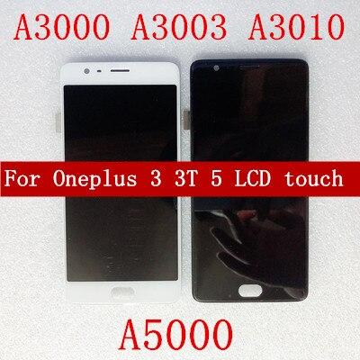 ЖК дисплей для Oneplus 3 A3000 3T A3010 5 A5000 ЖК дисплей с сенсорным экраном дигитайзер сборка запасная часть с рамкой дисплея