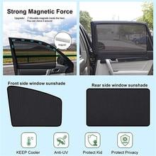 2021 New 1PCS Universal Car Window Shades Magnetic Anti-UV Socks Front Seats Curtains Car Window Shades Car Curtains #PY10