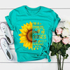Plus Size 5XL New Fashion Pink Tee Shirts Short Sleeve O Neck Sunflower Letters for Women New Tshirts Casual Tops Shipping 4