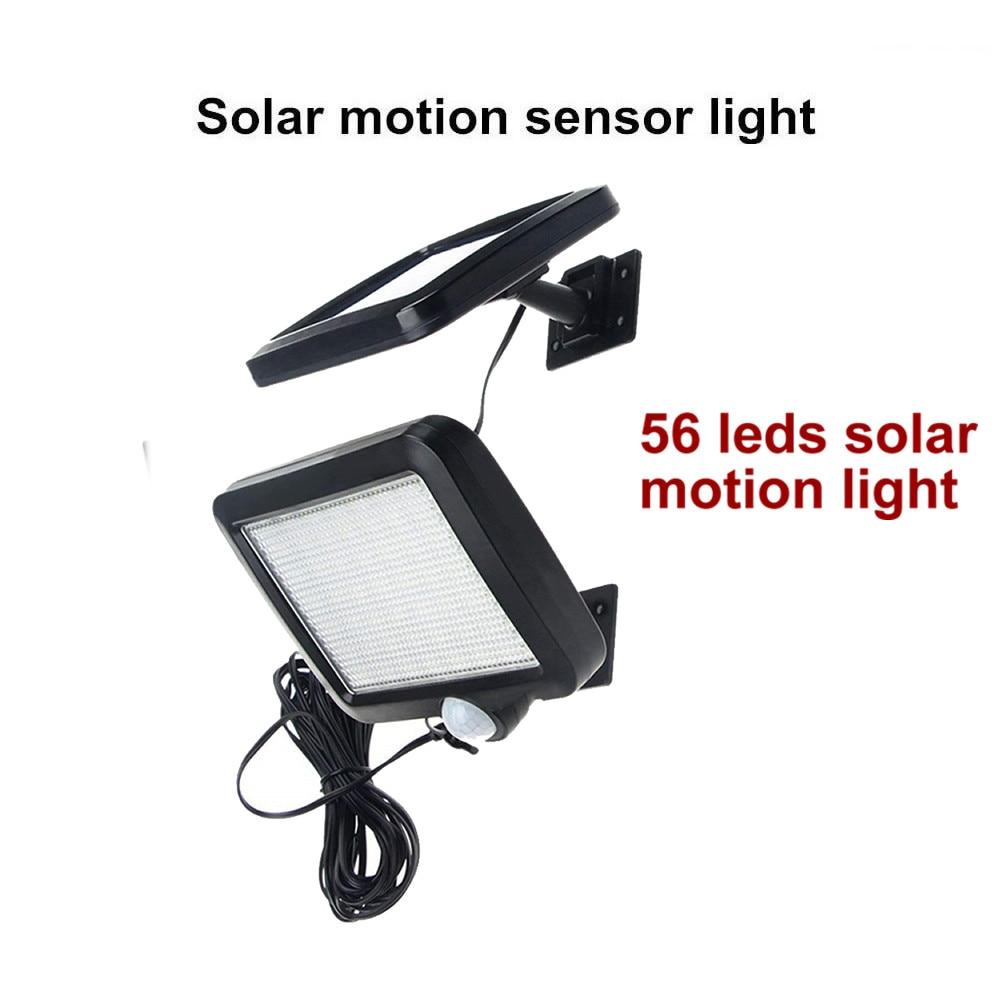 56 LED Outdoor Solar Wall Light PIR Motion Sensor Solar Lamp Waterproof Infrared Sensor Garden Light Chandelier Pendant Path