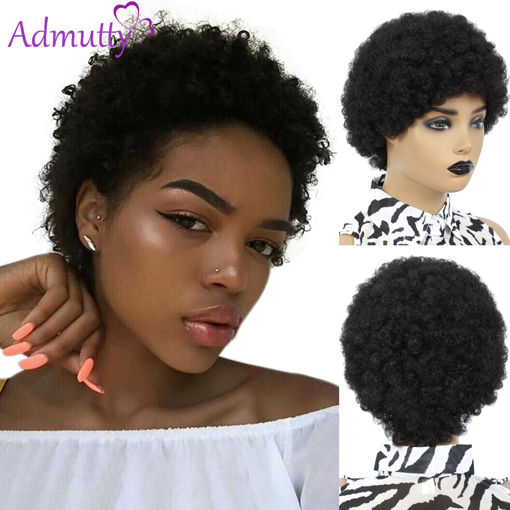 Afro Kinky Curly Wig Human Hair Wigs For Women Brazilian Short Kinky Curly Afro Wigs Human Hair Full Machine Made Human Hair Wig Full Machine Wigs Aliexpress