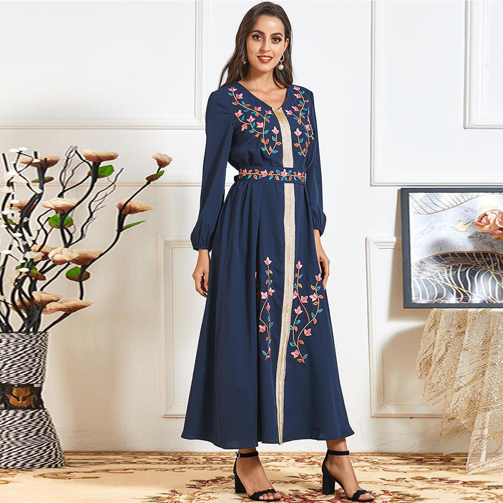 Vestidos Abaya Dubai Turkey Indian Muslim Hijab Long Dress Islam Dresses For Women Clothing Robe Longue