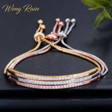 Wong-bracelet en argent Sterling 100%, pierres précieuses récoltées, breloques, diamants, bijoux fins, vente en gros, pluie 925