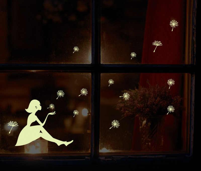 זוהר בחושך שן הארי ילדה זוהר מדבקות סלון קישוט קיר מדבקות קישוט מדבקות לילדים בייבי שינה