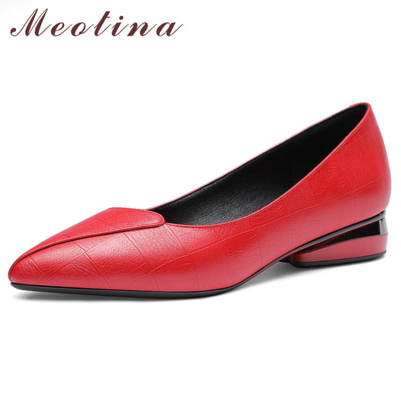 Meotina High Heels Women Pumps Fashion Strange Style Heels Loafers Shoes High Quality Pointed Toe Shoes Lady Red Big Size 33-43