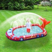 New 180cm inflatable fountain children splashing toys airship splashing pool game sprinkling pool outdoor sprinkling mat