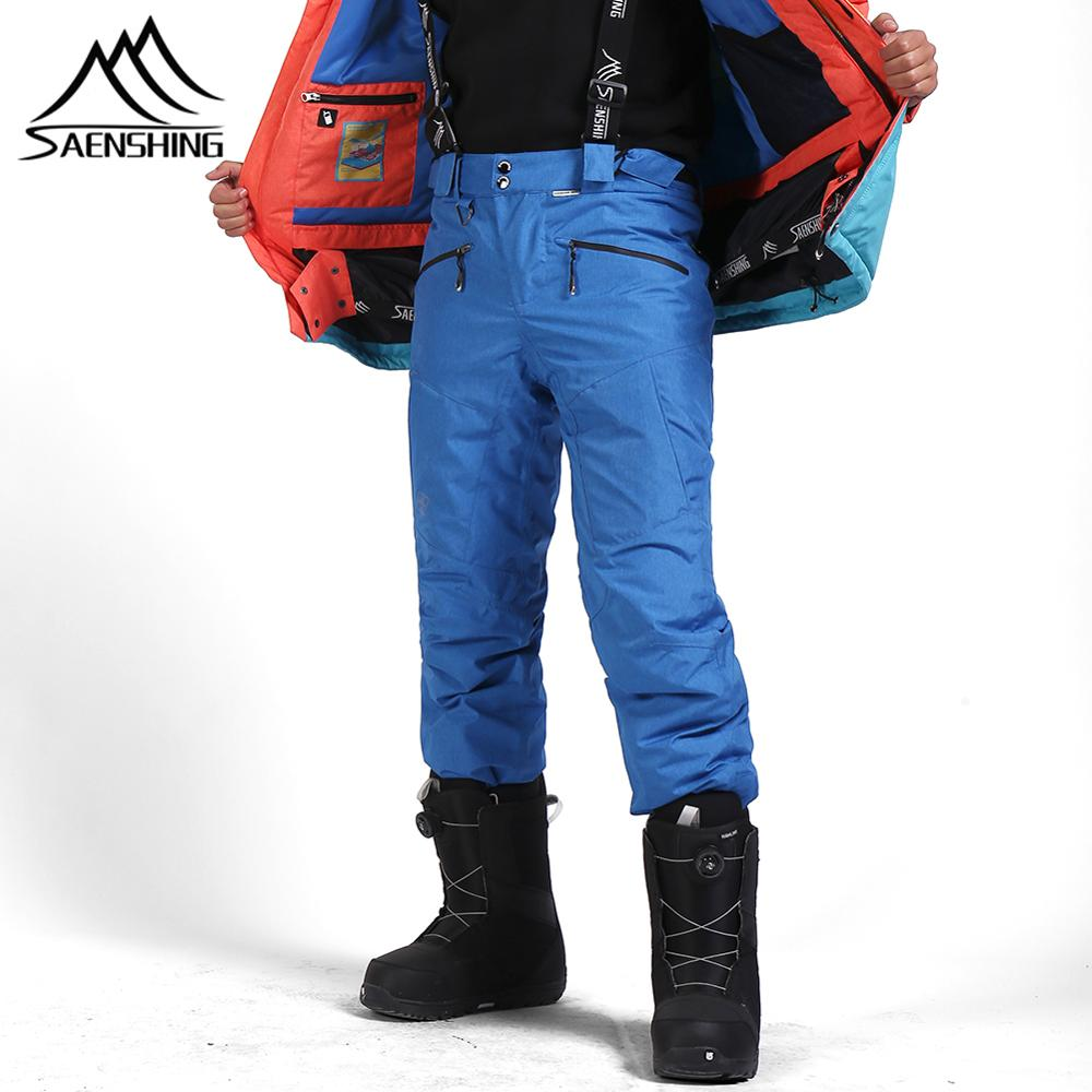 SAENSHING Winter Snowboard Pants Men Thicken Ski Pants Mens Snow Trousers Thermal Waterproof Winter Warm Skiing Pants