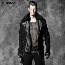 Панк рейв Мужская Панк Рок черная Красивая Короткая куртка Мужская Готическая Повседневная мода осень зимние пальто куртка джинсовая куртка мужская