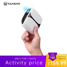 VANKYO Burger 101 1080P 3D DLP Wireless Rechargeable Mini Projector Support HDMI