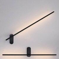 Modern 1 Wall Sconce Beside Lamp LED Stick Wall Lamp for Bedroom Bathroom Wall Light Art Deco Wall Sconces Vanity Light Black