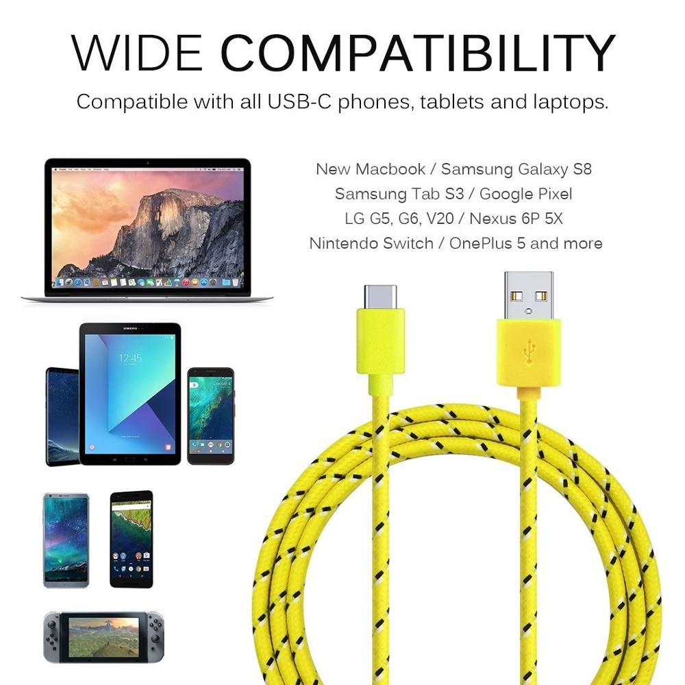 Image 5 - Olnylo USB Type C Cable Fast Charging Data Cable for Samsung S10 S9 Note 9 Oneplus 7 xiaomi Huawei Phone Type c USB C Cables-in Mobile Phone Cables from Cellphones & Telecommunications