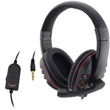 Wired Cuffia 3.5 millimetri Gaming Headset Cuffia Auricolare Microfono Musica Per PS4 Play Station 4 Gioco Chat PC(China)
