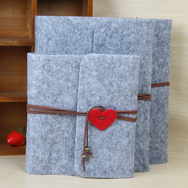 2019 New Felt Three Size Plush Velvet Felt Cover Handmade DIY Vintage Photo Album Birthday Gift Scrapbook Photo Album image