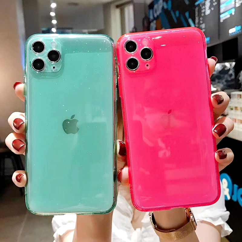Luxury Candy Transparent Phone Case For iphone 11 12 mini Pro Max XS X XR 7 8 plus SE 2021 Soft Silicone Shockproof Cases Cover 3