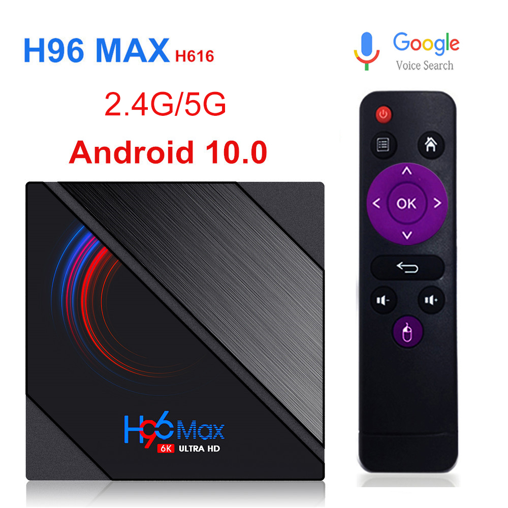 Smart TV Box H96 MAX H616 2020 Android10 0 32GB 64GB 6K Youtube Media player H96MAX TVBOX Android TV Set top box 2 4 G 5G