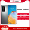 Глобальная версия HUAWEI P40 Pro 5G 6,58 дюймов Kirin 990G, четыре ядра, мобильный телефон 256 ГБ 8 ГБ сотовый телевон, BT5.1 с распознаванием лица для телефоно...