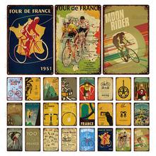 Ретро металлическая жестяная вывеска велогонки Арт плакат табличка