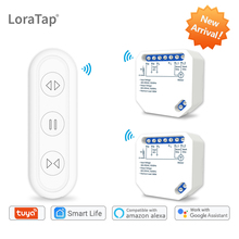 Tuya Smart Life WiFi Blind Curtain Switch with Remote for Electric Roller Shutter Sunscreen Google Home Amazon Alexa Smart Home