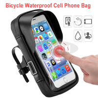 Waterproof Bike Mobile Phone Holder Bicycle Touch Screen Navigation Phone Stand Bag Handlebar Bag For Under 6 Inch Smart Phone