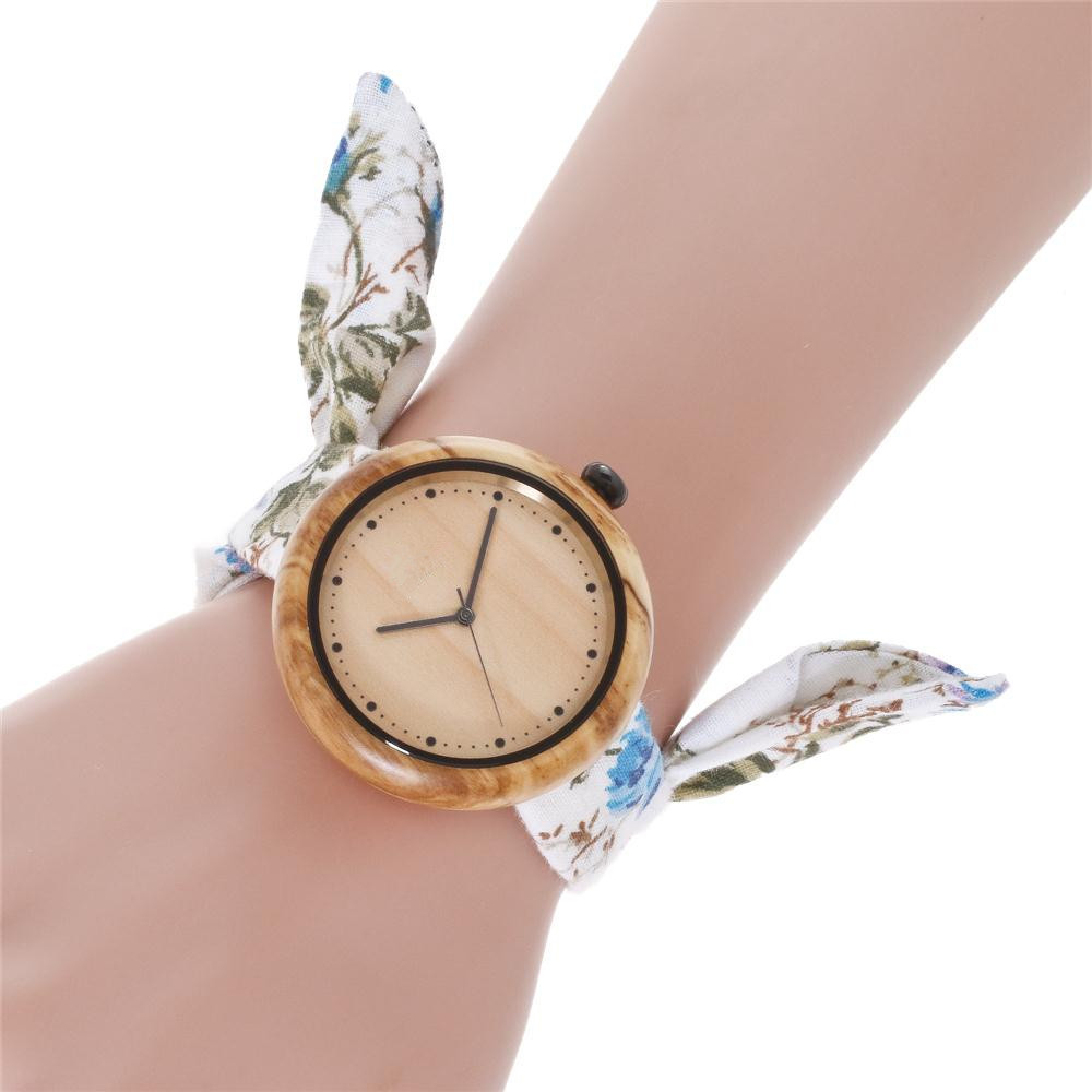 Fashion Wooden Watch for Ladies Japanese Quartz Women's Wristwatch Luxury Lover's Watches relogio feminino Creative Gift Clock