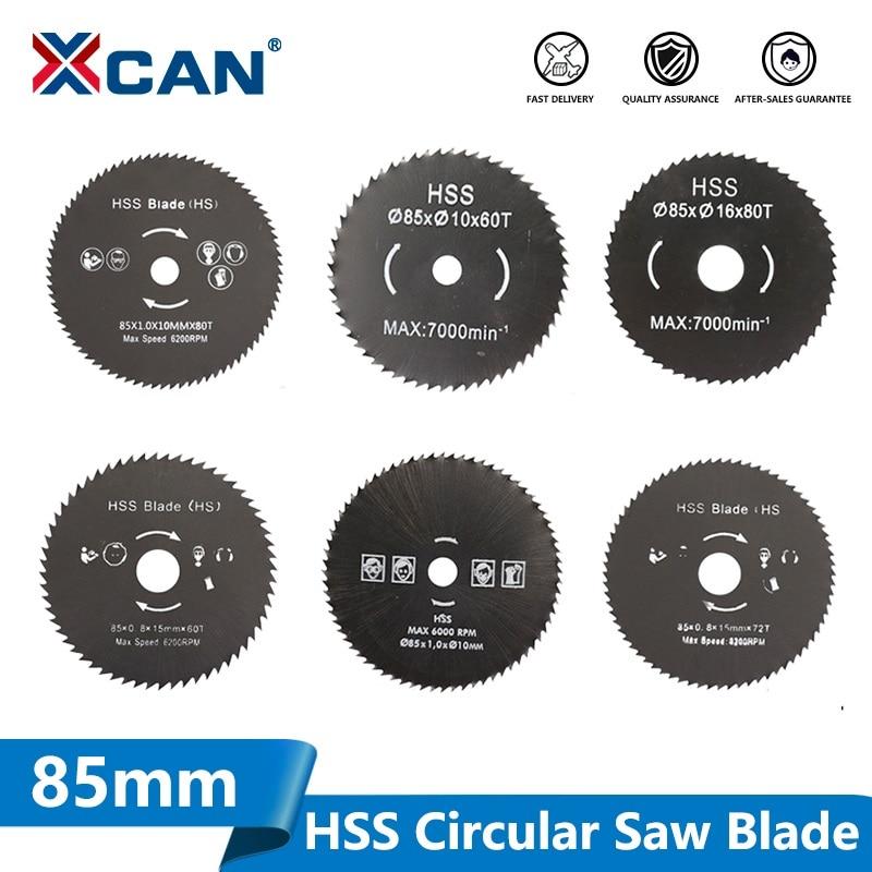 XCAN 1pc 85mm Nitride Coating HSS Circular Saw Blade Wood/Metal Cutter Wood Cutting Disc Saw Blade