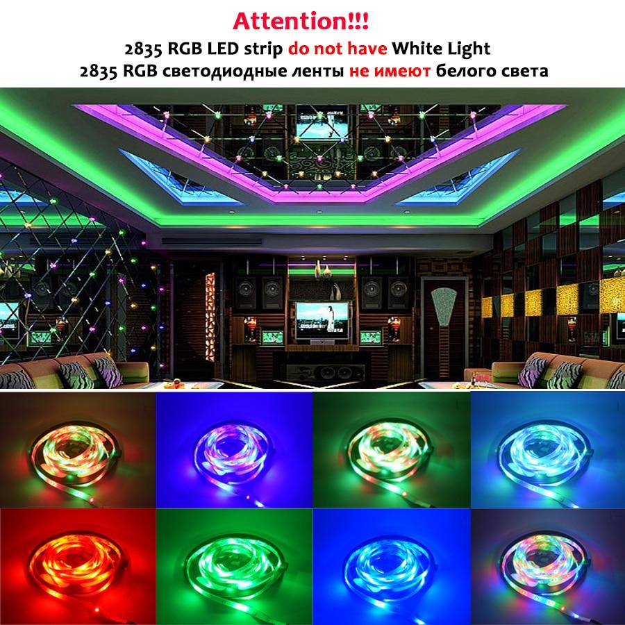 RGB LED Strip Light SMD 2835 5M Waterproof RGB Tape DC12V Ribbon Diode Led Strips Light Flexible Stripe Lamp IR WIFI Controller