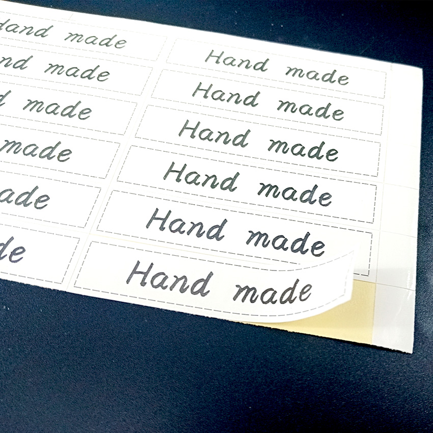 180pcs lot Lovely White HAND MADE Long Strip Adhesive Decor Stickers Sealing Sticker DIY Packaging Sealing Label in Stationery Stickers from Office School Supplies