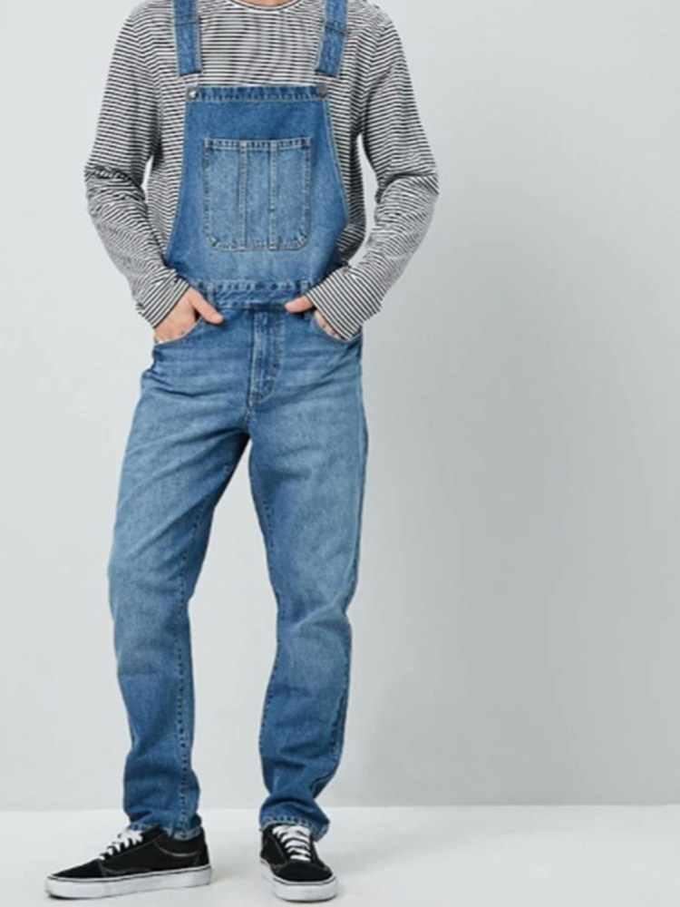Neue HEIßE Mode männer Zerrissene Jeans Overalls Hallo Straße Distressed Denim Bib Overalls Für Mann Hosenträger Hosen Größe S-XXXL
